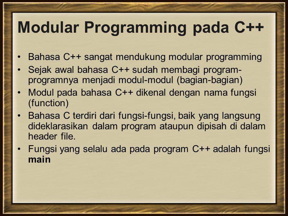 Modular Programming pada C++