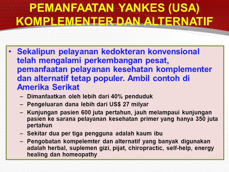 PEMANFAATAN YANKES (USA) KOMPLEMENTER DAN ALTERNATIF