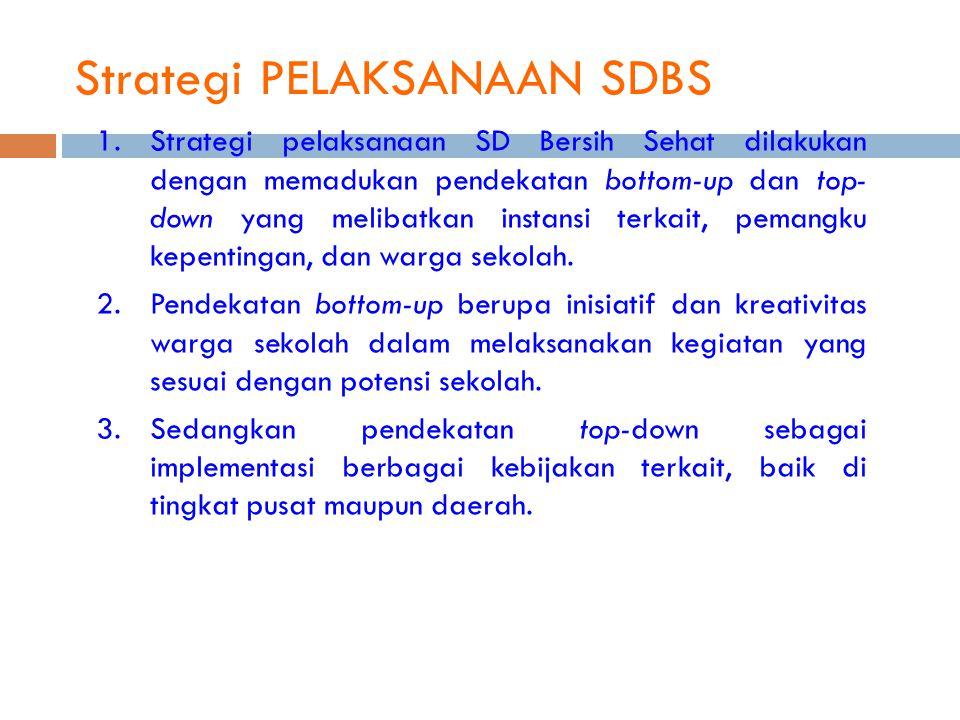 Strategi PELAKSANAAN SDBS