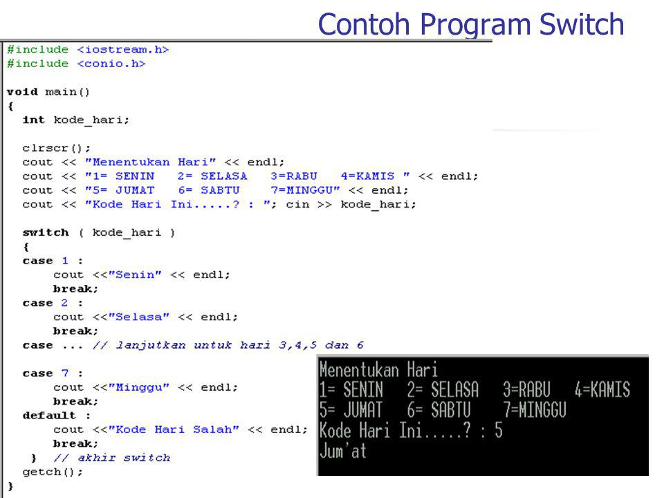 Contoh Program Switch