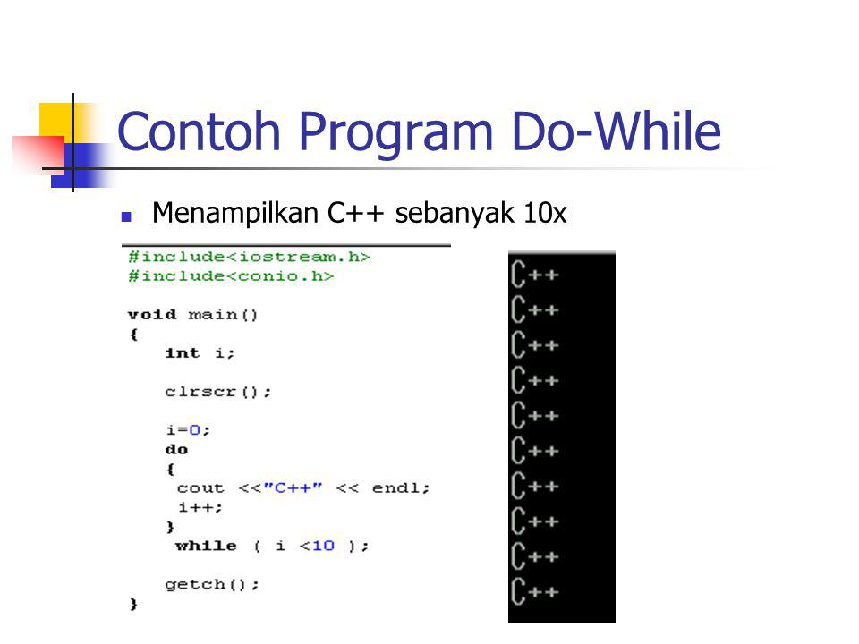 Contoh Program Do-While