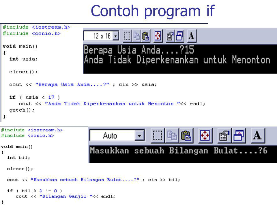 Contoh program if