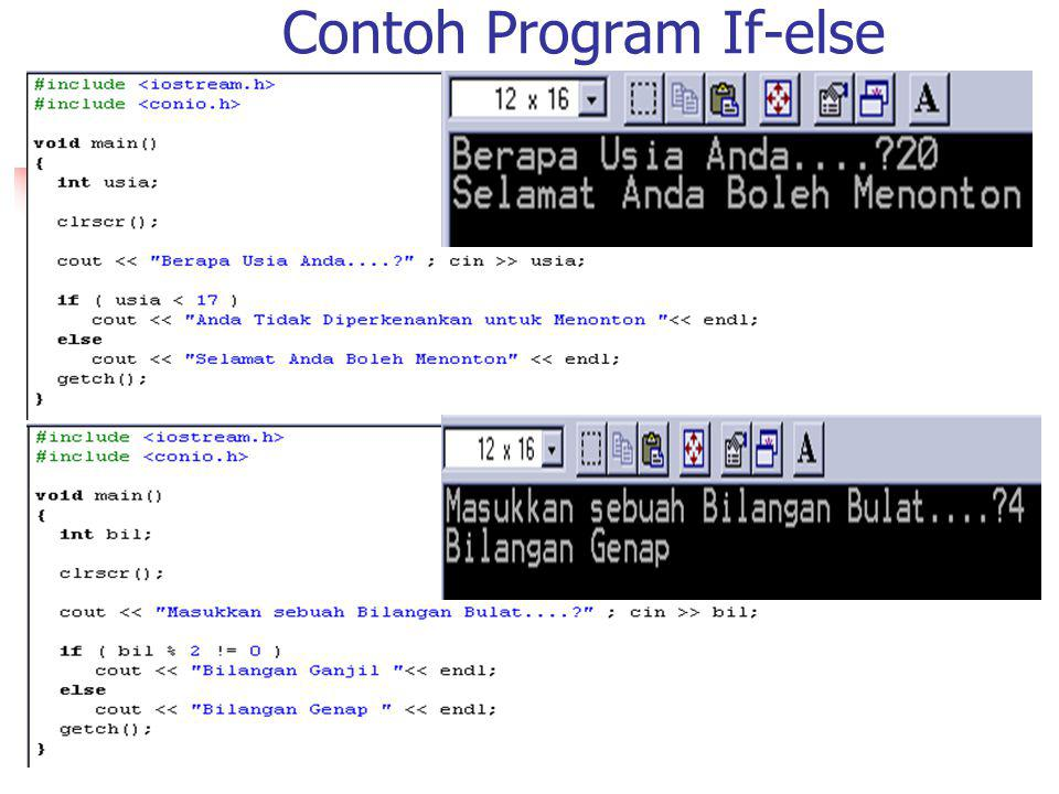 Contoh Program If-else