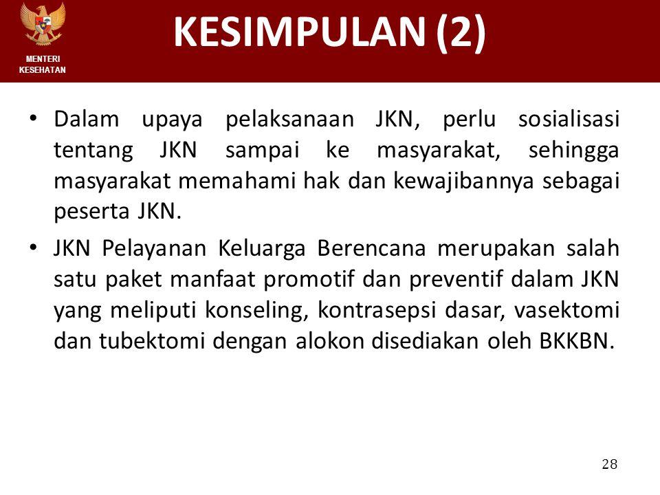 MENTERI KESEHATAN KESIMPULAN (2)
