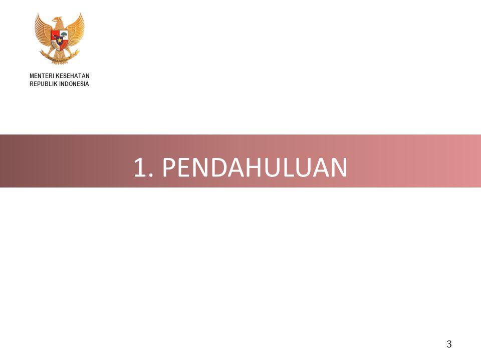 MENTERI KESEHATAN REPUBLIK INDONESIA 1. PENDAHULUAN