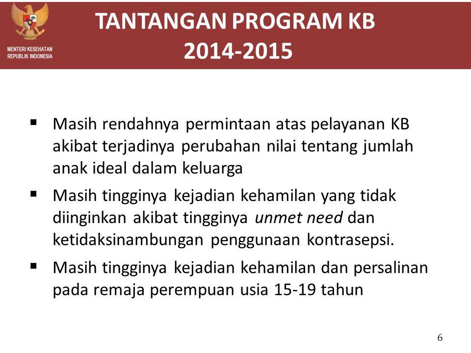 TANTANGAN PROGRAM KB 2014-2015