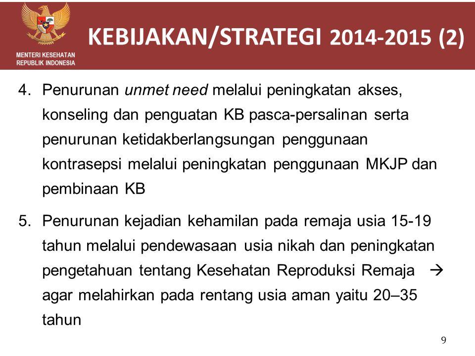 KEBIJAKAN/STRATEGI 2014-2015 (2)