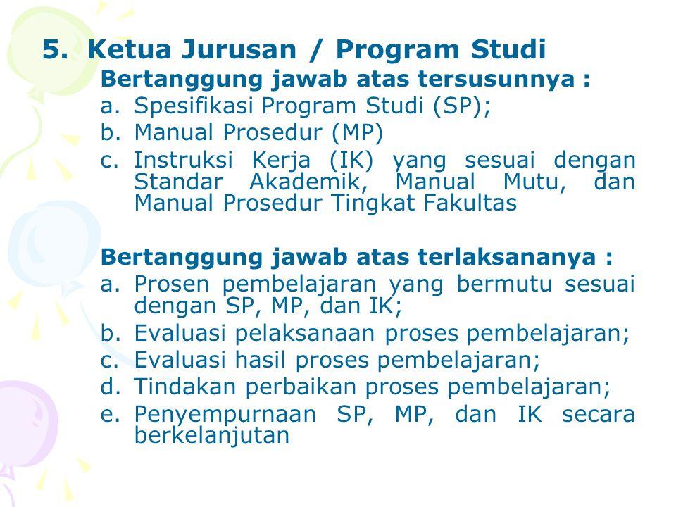 Ketua Jurusan / Program Studi