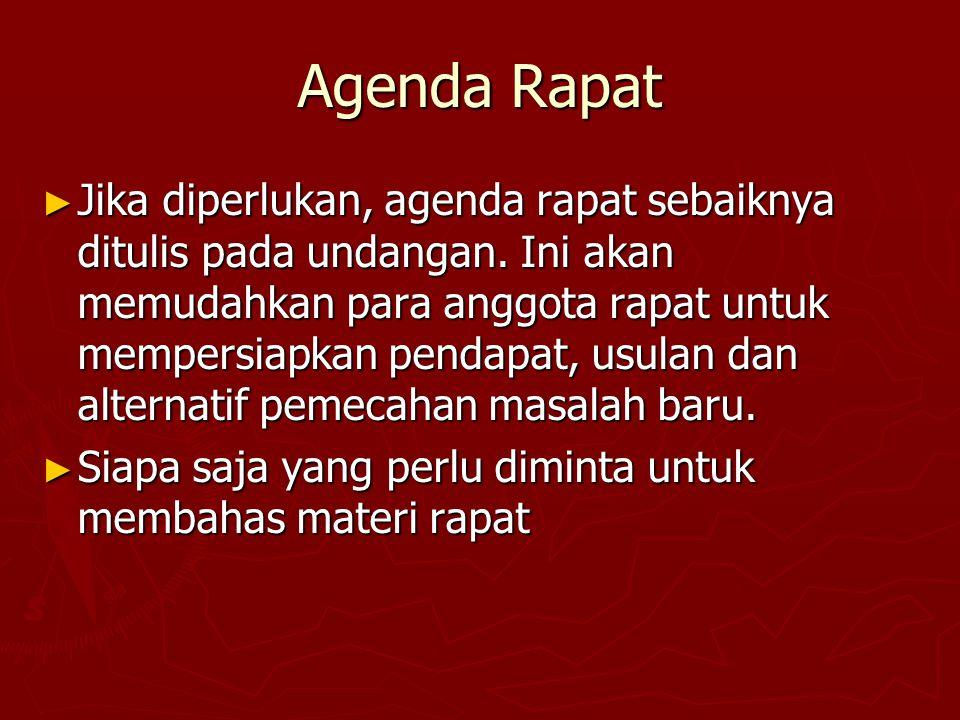 Agenda Rapat