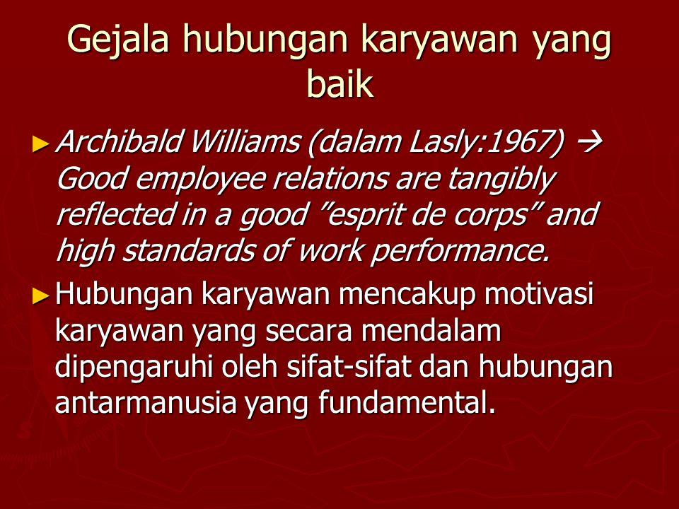 Gejala hubungan karyawan yang baik