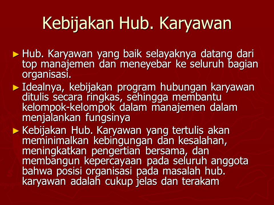 Kebijakan Hub. Karyawan