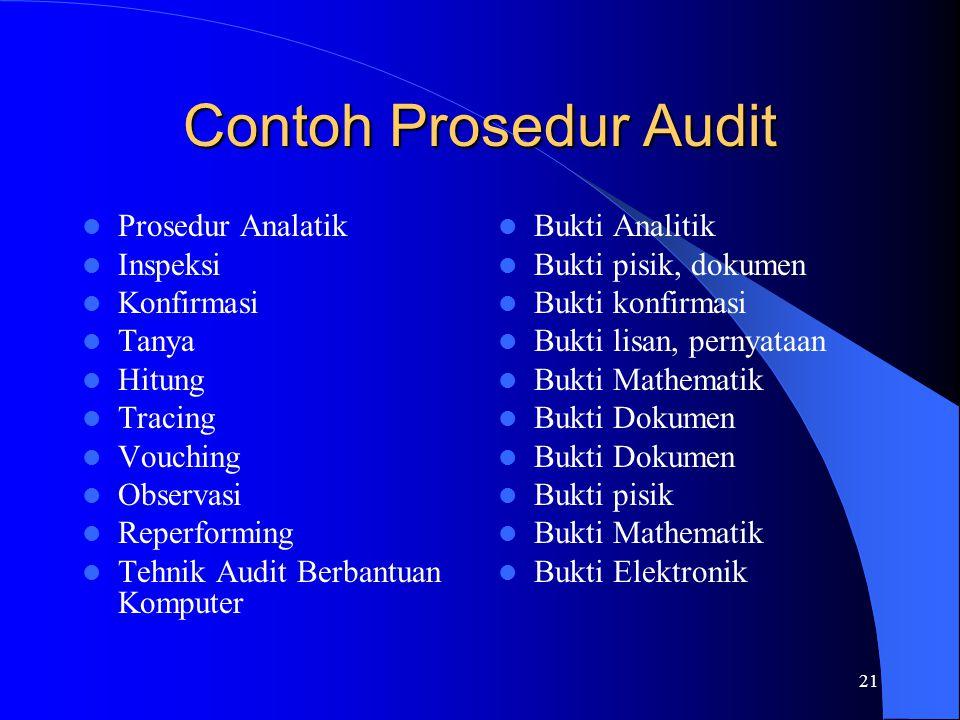 Contoh Prosedur Audit Prosedur Analatik Inspeksi Konfirmasi Tanya