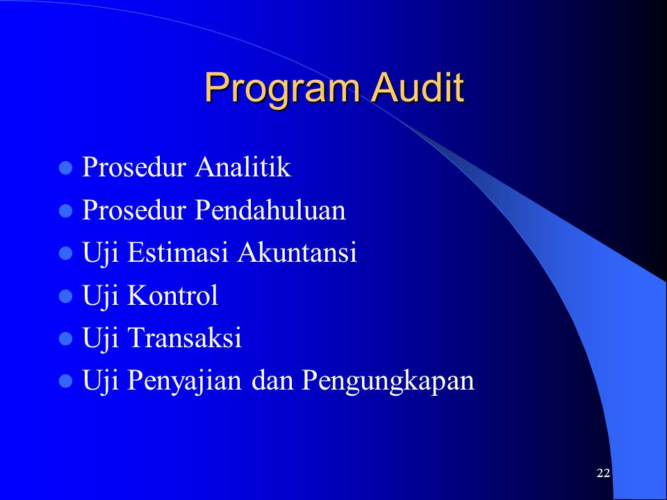 Program Audit Prosedur Analitik Prosedur Pendahuluan