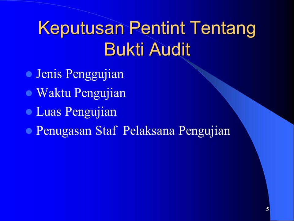 Keputusan Pentint Tentang Bukti Audit