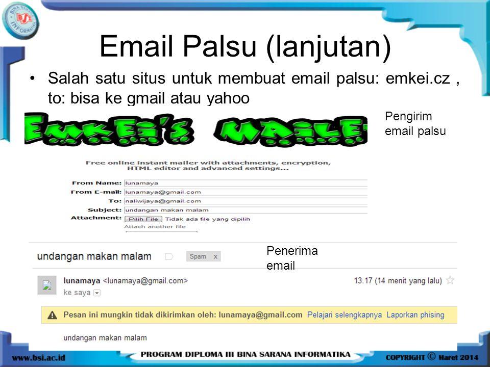 Email Palsu (lanjutan)
