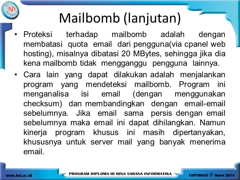 Mailbomb (lanjutan)
