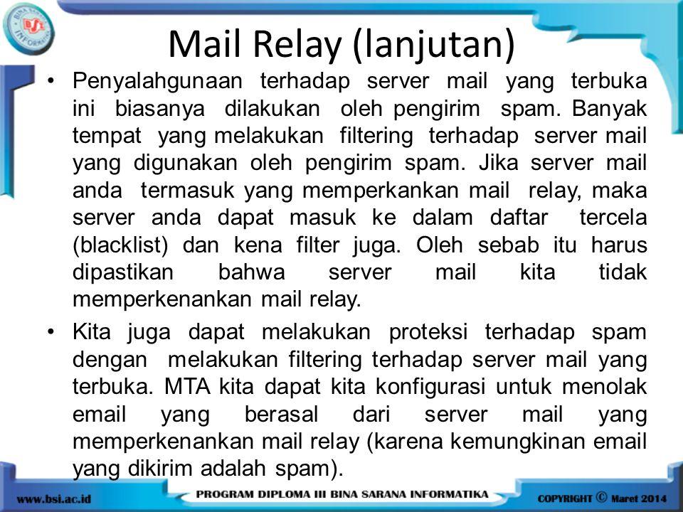 Mail Relay (lanjutan)