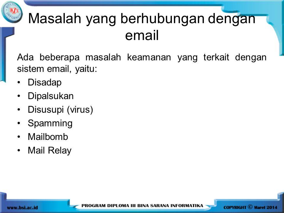 Masalah yang berhubungan dengan email