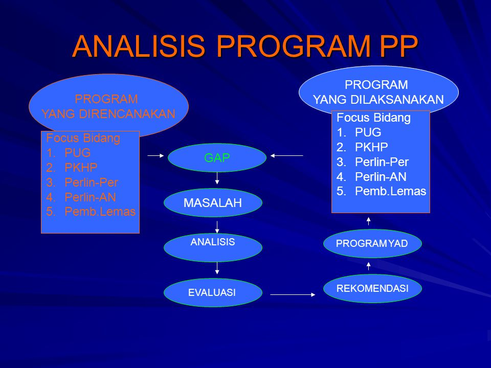 ANALISIS PROGRAM PP PROGRAM YANG DILAKSANAKAN PROGRAM