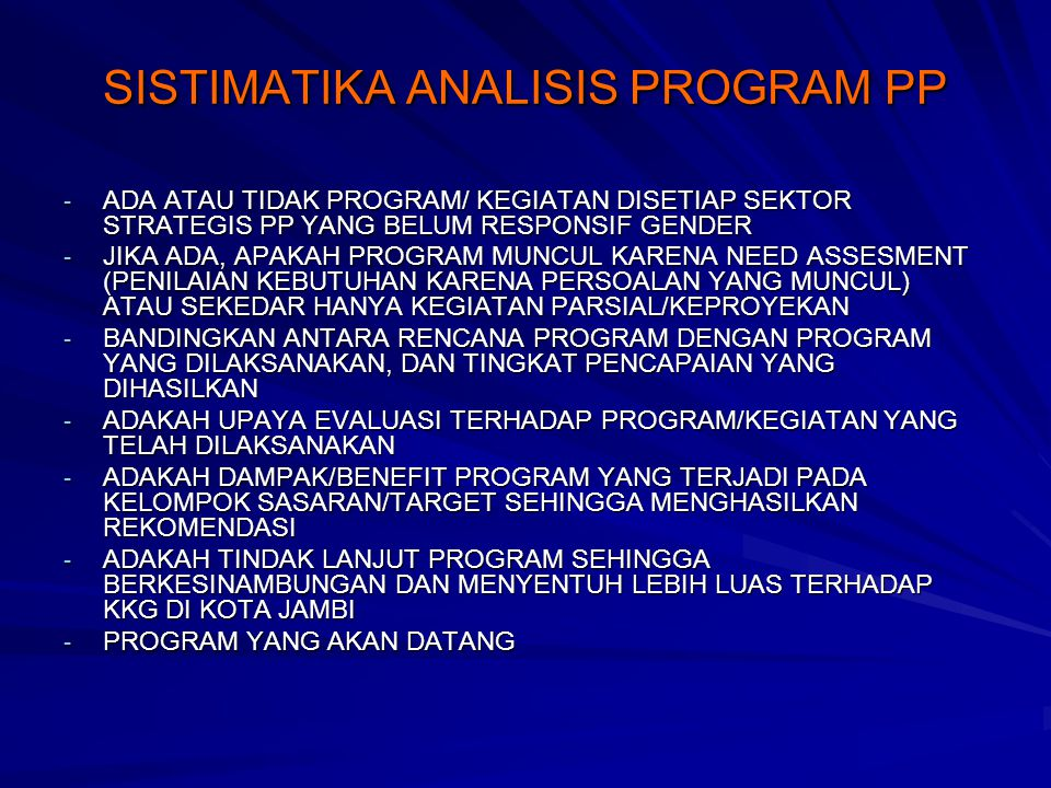SISTIMATIKA ANALISIS PROGRAM PP
