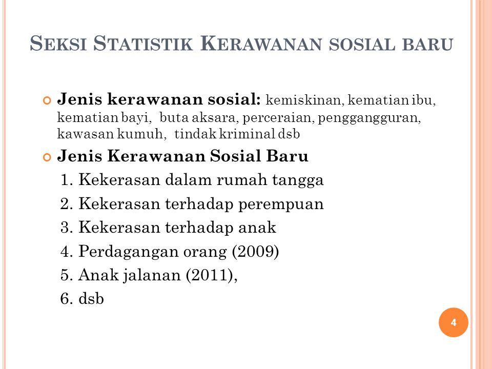 Seksi Statistik Kerawanan sosial baru