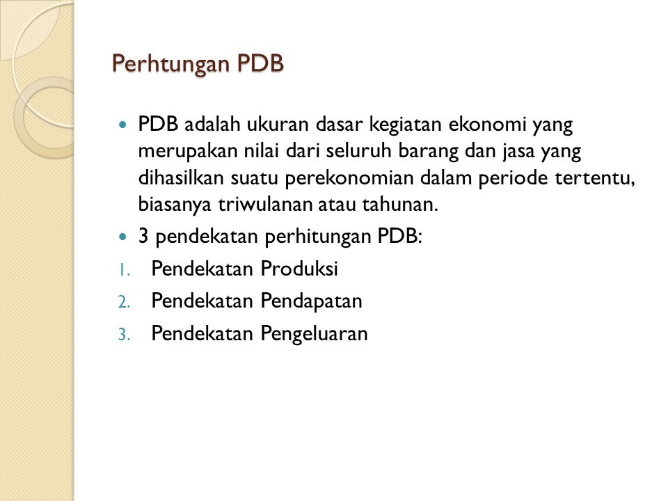 Perhtungan PDB