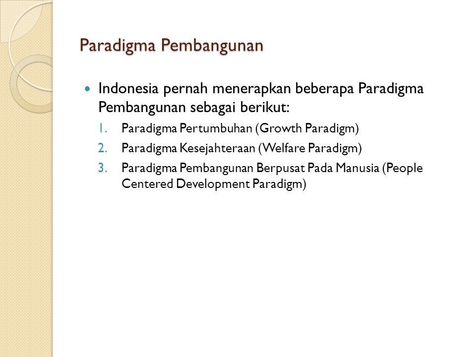 Paradigma Pembangunan
