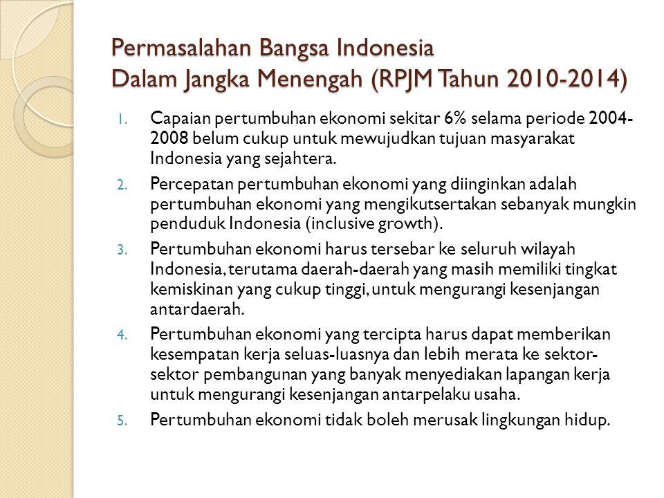 Permasalahan Bangsa Indonesia Dalam Jangka Menengah (RPJM Tahun 2010-2014)