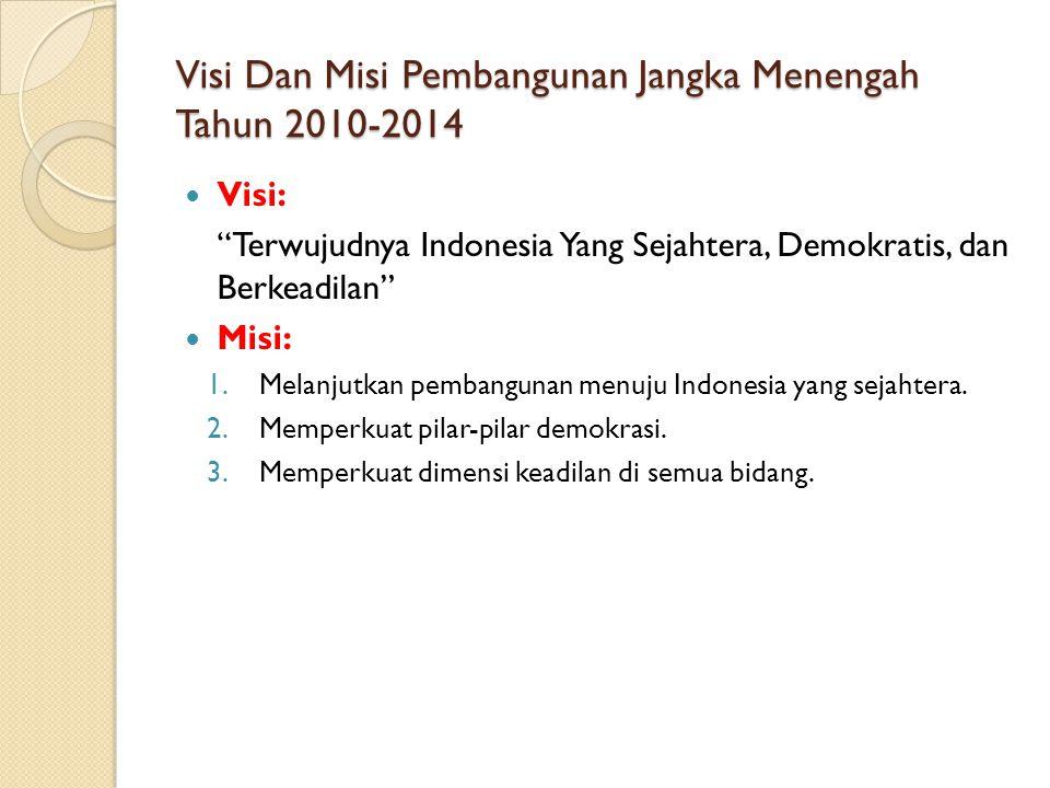 Visi Dan Misi Pembangunan Jangka Menengah Tahun 2010-2014