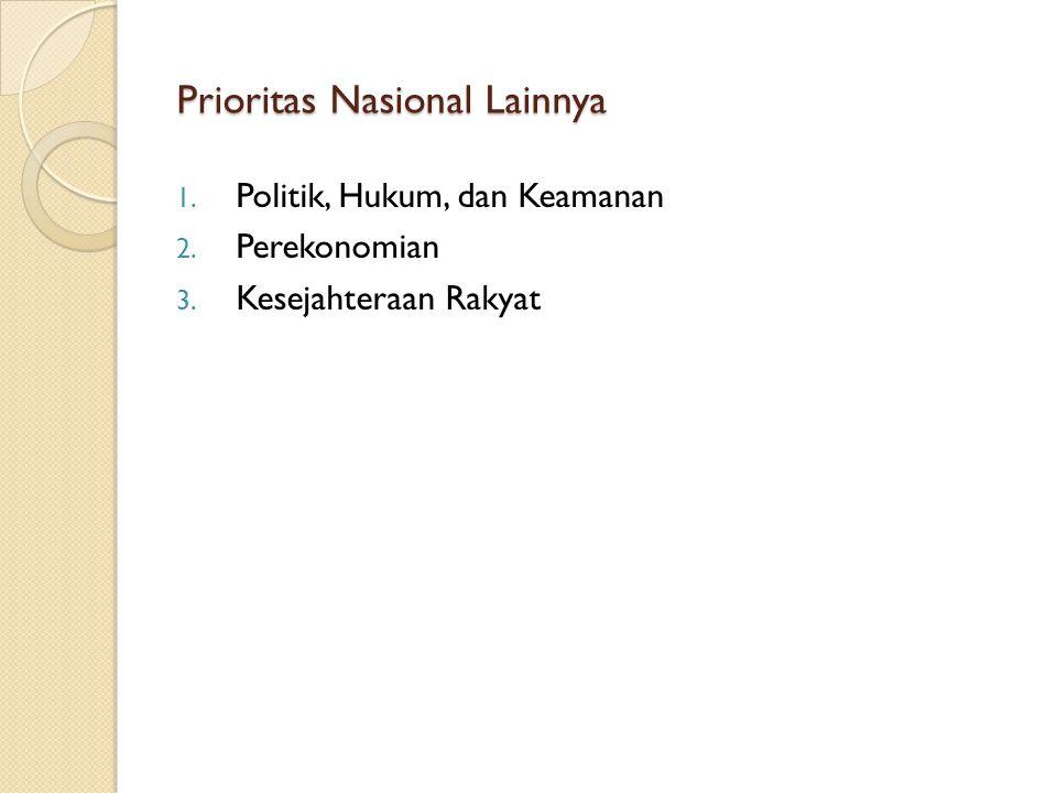 Prioritas Nasional Lainnya