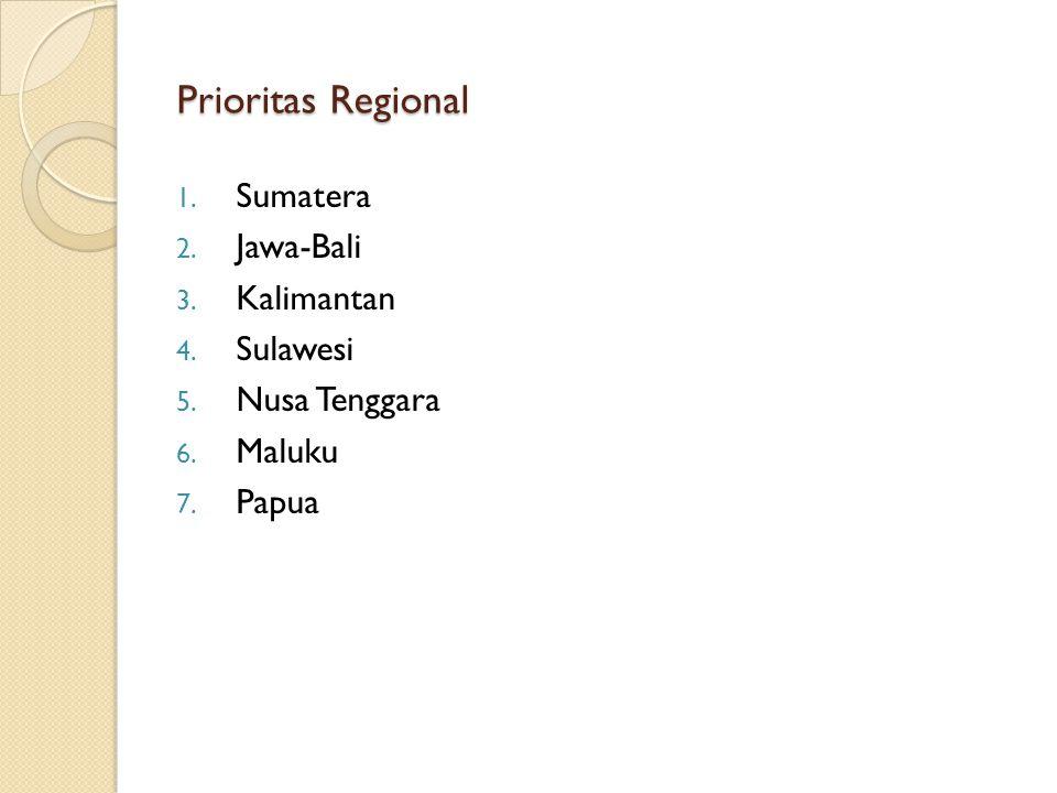 Prioritas Regional Sumatera Jawa-Bali Kalimantan Sulawesi