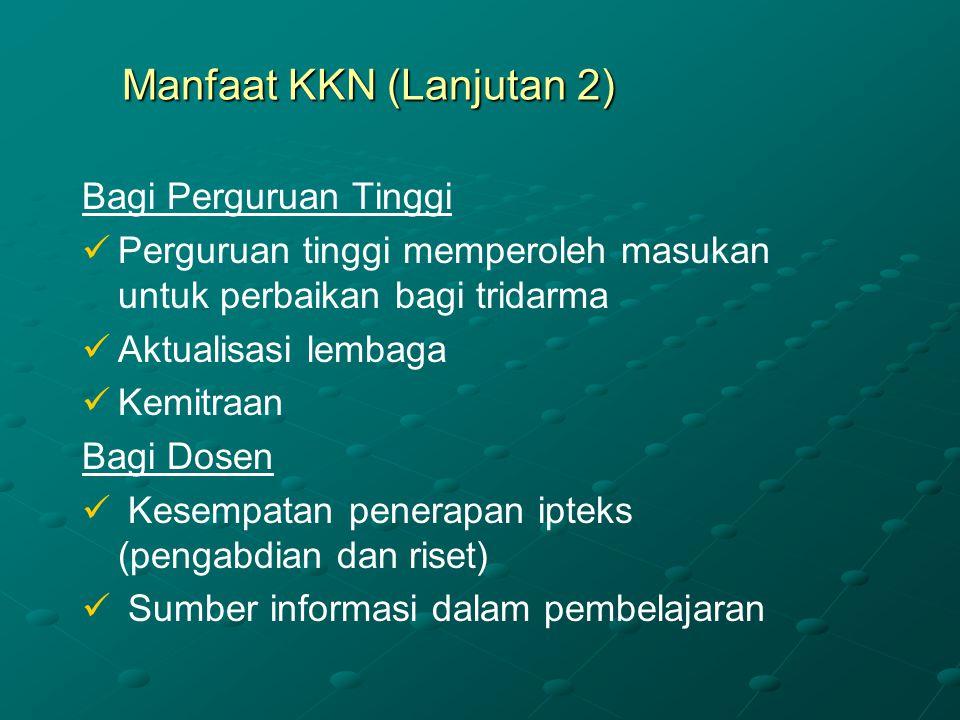 Manfaat KKN (Lanjutan 2)