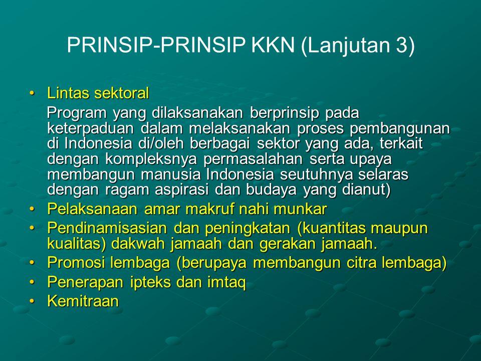 PRINSIP-PRINSIP KKN (Lanjutan 3)