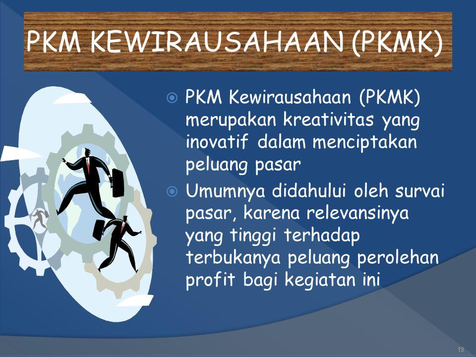 PKM KEWIRAUSAHAAN (PKMK)