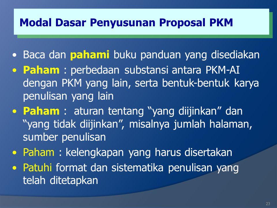 Modal Dasar Penyusunan Proposal PKM