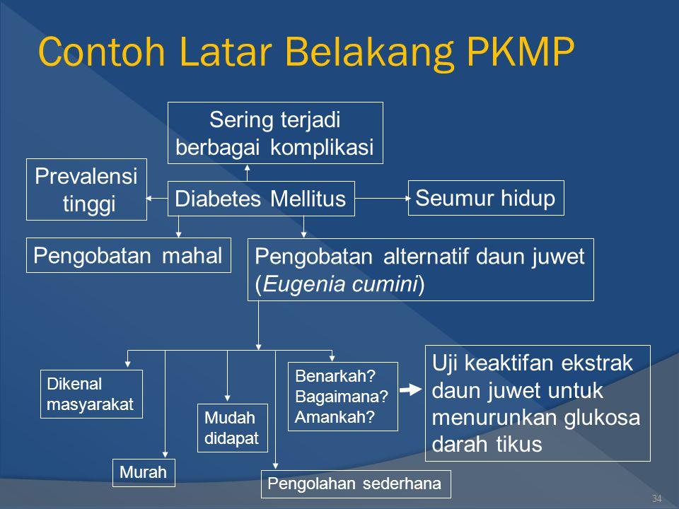 Contoh Latar Belakang PKMP