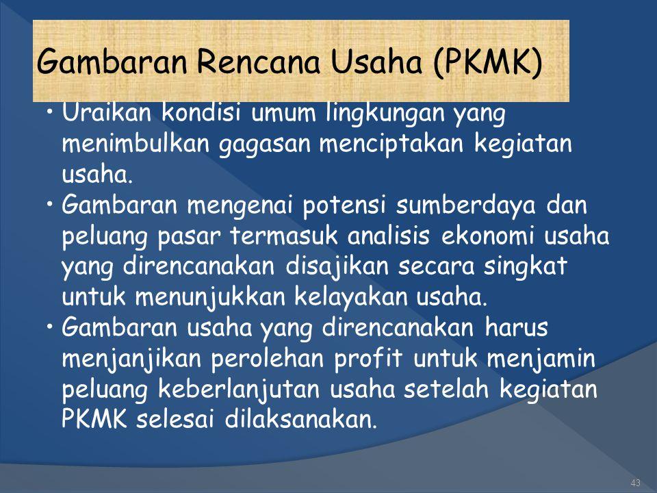 Gambaran Rencana Usaha (PKMK)
