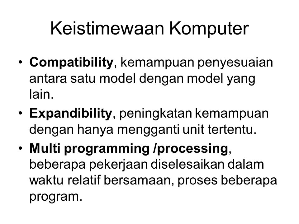 Keistimewaan Komputer