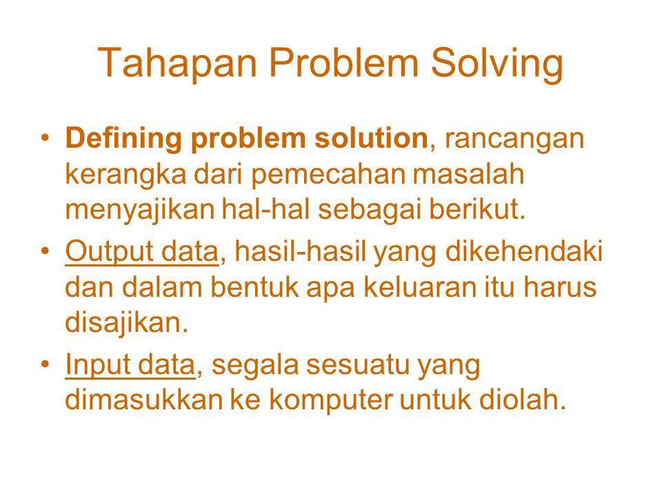 Tahapan Problem Solving