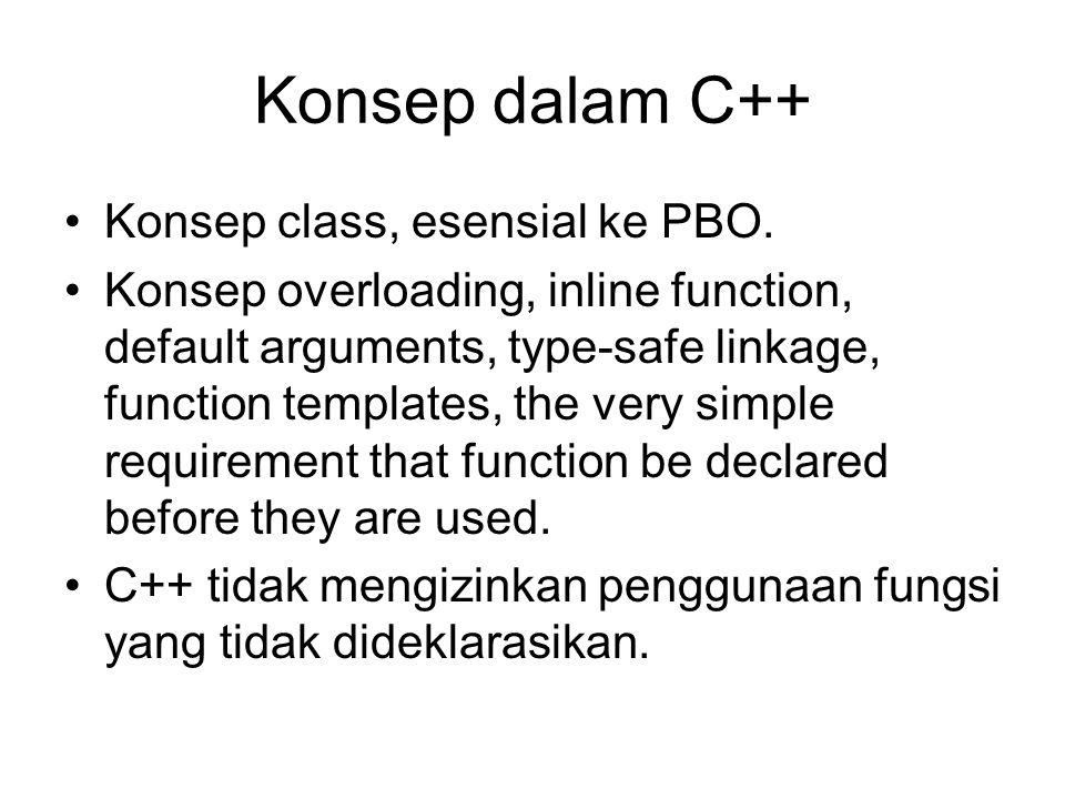 Konsep dalam C++ Konsep class, esensial ke PBO.