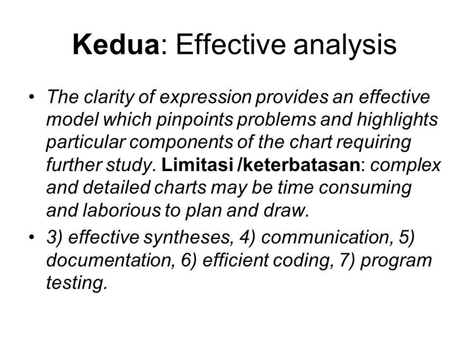 Kedua: Effective analysis