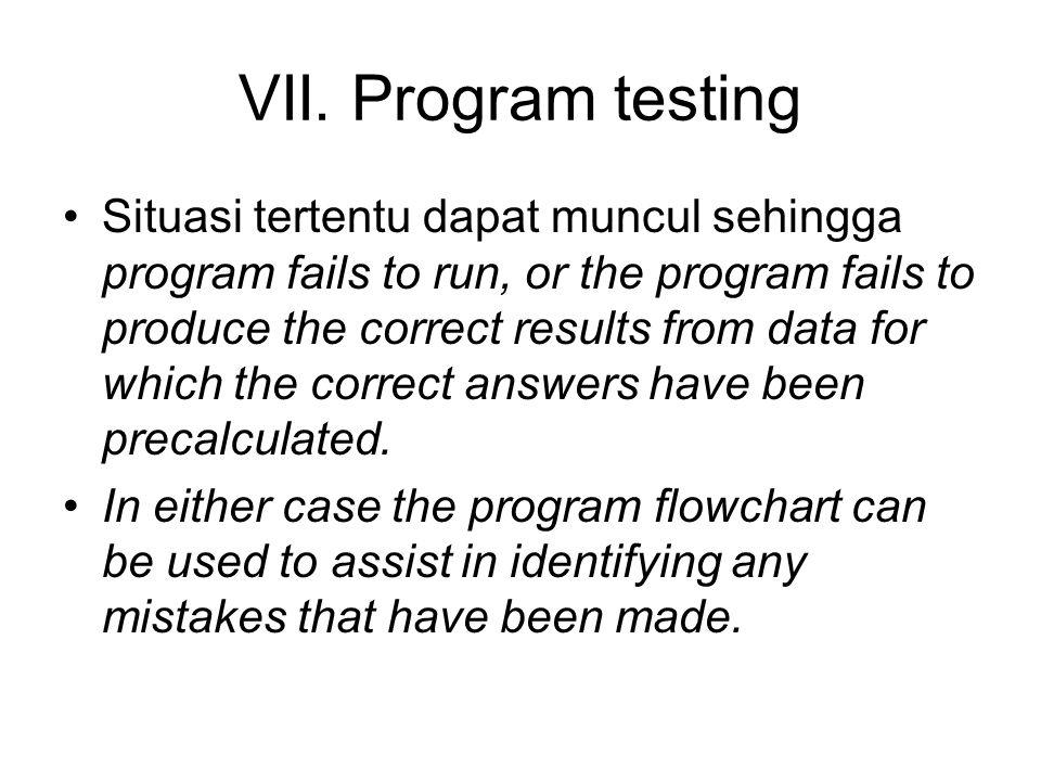 VII. Program testing