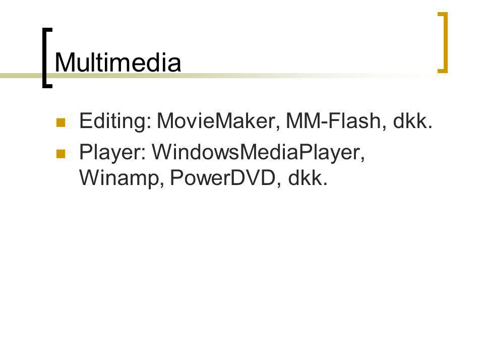 Multimedia Editing: MovieMaker, MM-Flash, dkk.