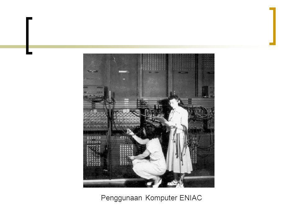 Penggunaan Komputer ENIAC