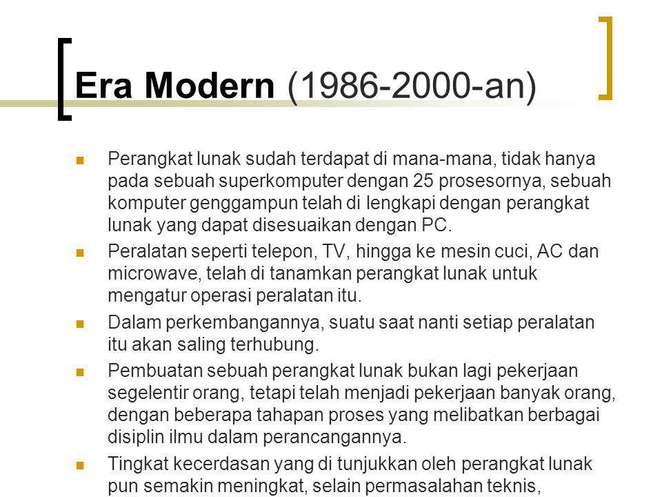 Era Modern (1986-2000-an)