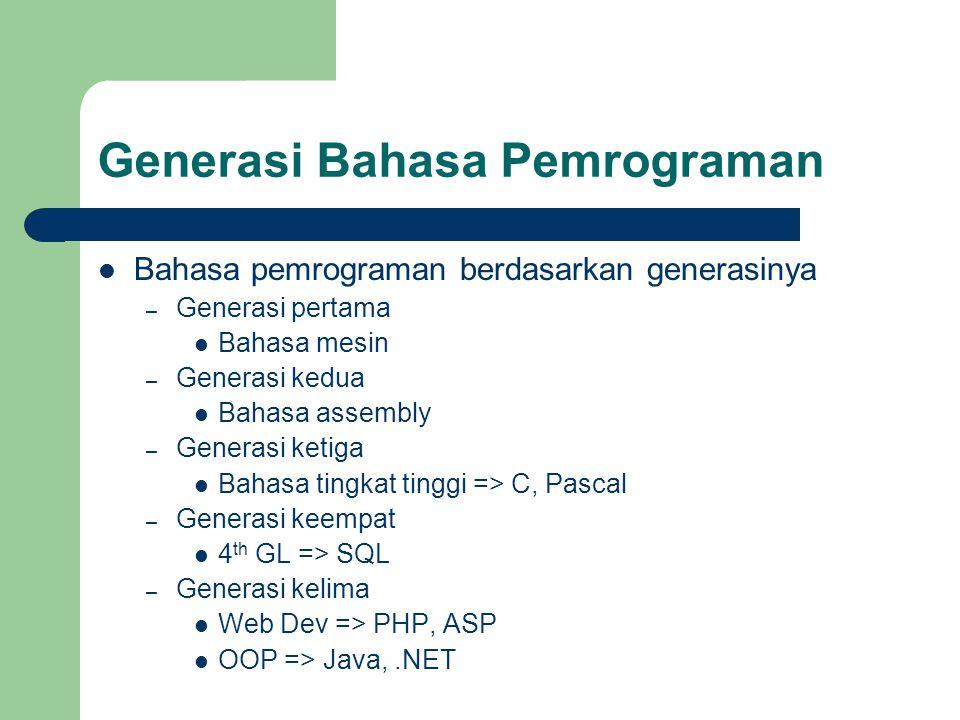 Generasi Bahasa Pemrograman
