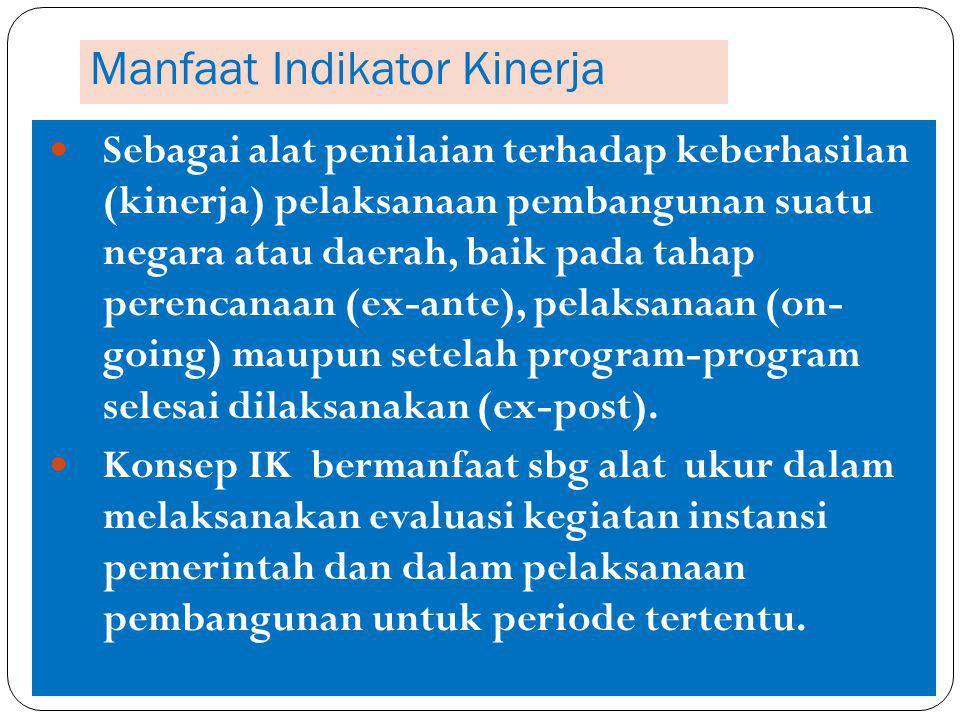 Manfaat Indikator Kinerja