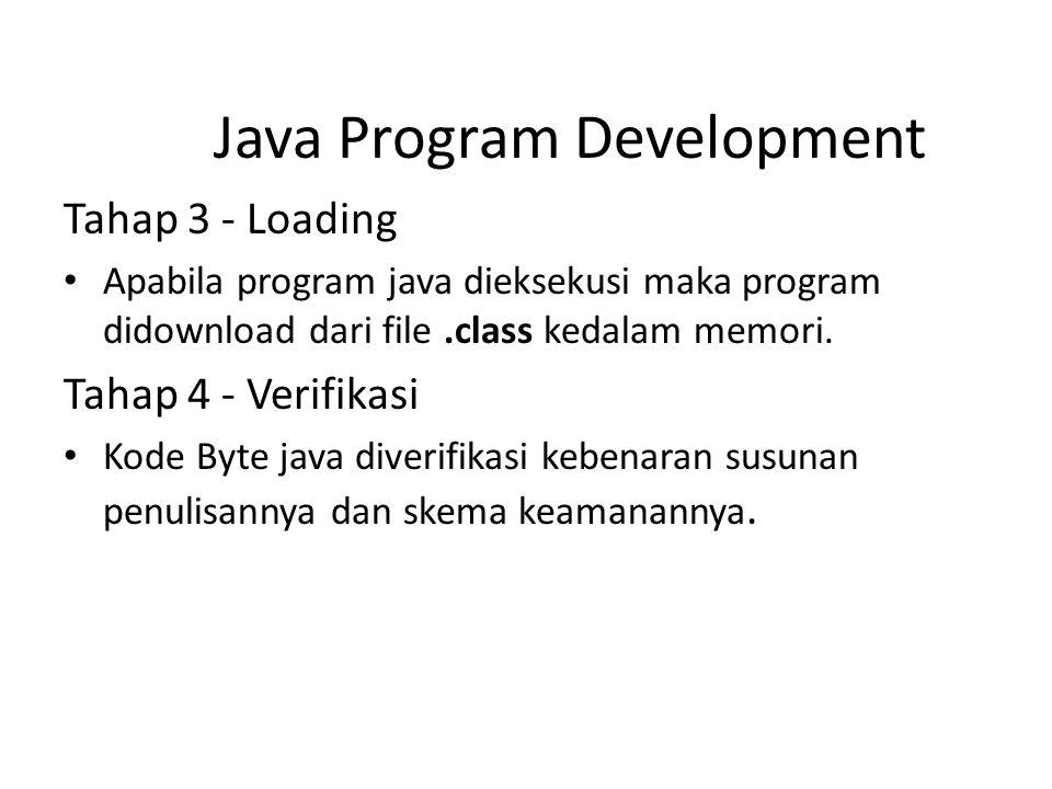 Java Program Development