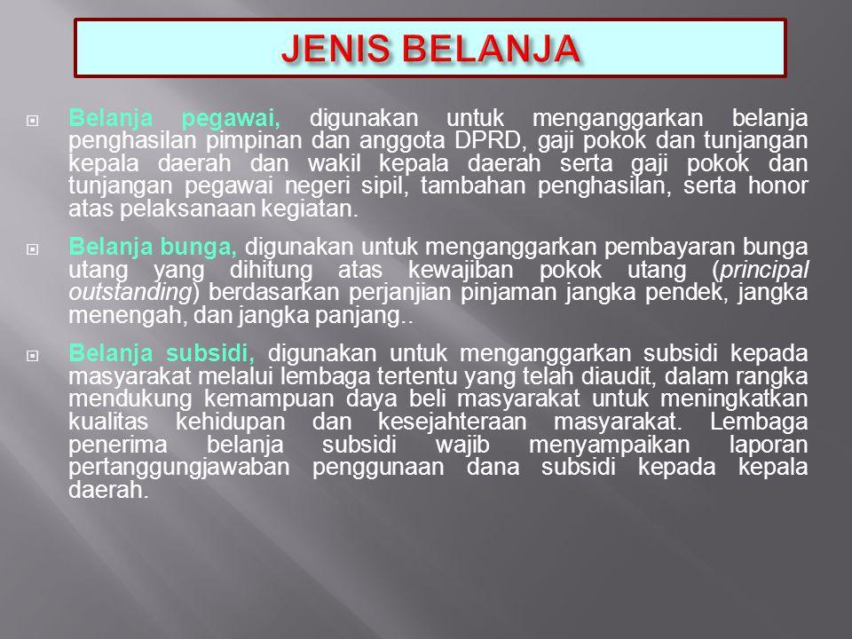 JENIS BELANJA