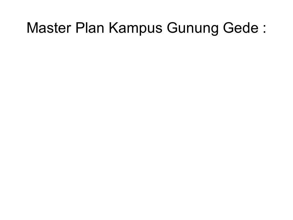 Master Plan Kampus Gunung Gede :